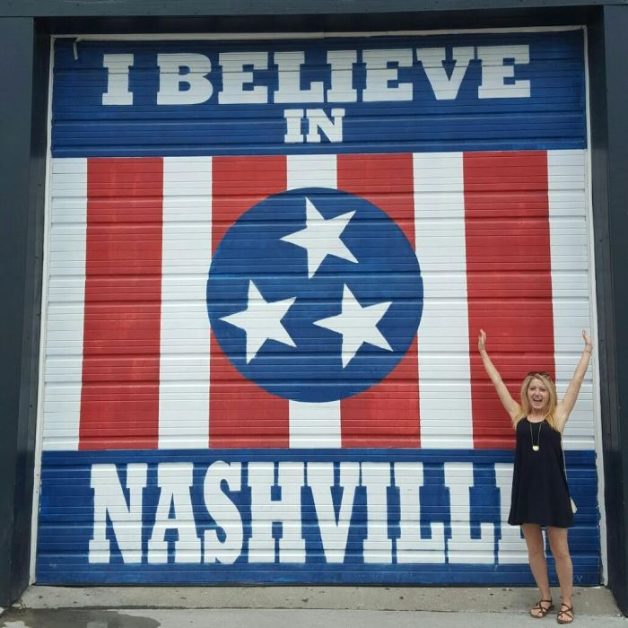 I Believe in Nashville mural at Marathon Music Works